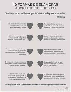 10 Formas de enamorar a los clientes de tu negocio...
