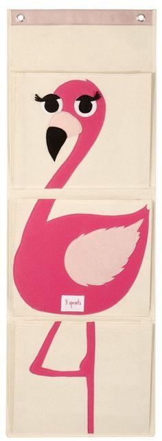 Flamingo Wall Organizer   The Organizing Store #3sprouts #organize #flamingo #wallorganizer