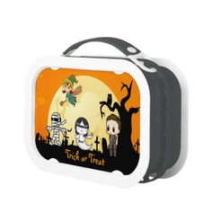Cute Mummy Ghost Witch Priest - Kids Halloween Lunchboxes