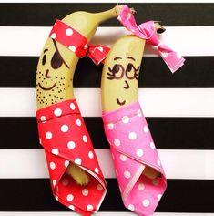 Banana decoration for yalda, banana decoration with skin, banana decoration with ribbon, banana deco Ribbon Decorations, Fruit Decorations, Deco Fruit, Clown Crafts, Thali Decoration Ideas, Fruit Creations, Banana Art, Baby Boy 1st Birthday, Wedding Plates