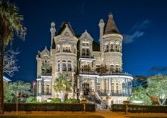 In historic Texas towns such as Granbury and Galveston, some residents see ghostly happenings as echoes of an unfinished past that lingers in century-old settings.  Bishop's Palace, Galveston.