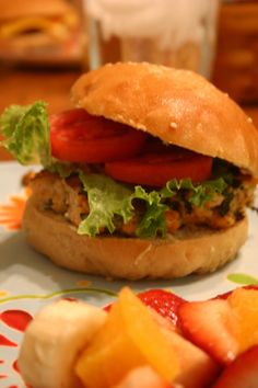 Tired of ordinary burgers?  Try these salmon burgers.  While the flavor profiles might be a bit much for some kids, they are delicious and a great way to add fish to your regular rotation of recipes.