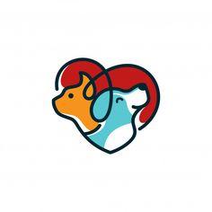 logo concept for Logo Ig, Dog Icon, Logo Template, Dog Branding, Dog Vector, Vector Free, Cat Sketch, Instagram Logo, Dog Logo