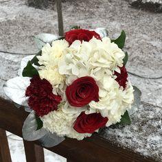 Snowy Valentine's Day 2016, Bridesmaid's Bouquets