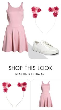 """""""Strawberry Milk outfit"""" by zahra2002 ❤ liked on Polyvore featuring Charlotte Russe, Boohoo, Kenneth Cole, kpop, kawaii and strawberrymilk"""