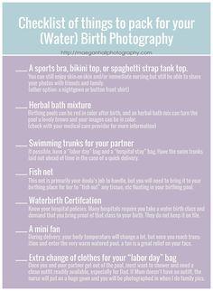 hospital bag checklist for water birth photography I maegan hall photography I atlanta birth photographer + doula