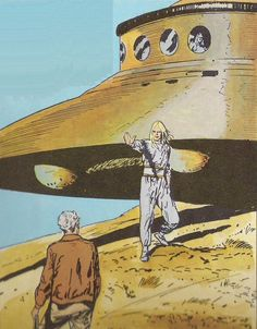George Adamski, making contact with humanoid aliens on the slopes of Mount Palomar in California. Ancient Aliens, Aliens And Ufos, Arte Sci Fi, Sci Fi Art, Nordic Aliens, The Coming Race, Spaceship Art, Templer, Alien Art