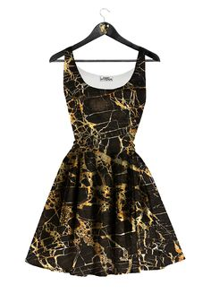 Gold Marble Dress by Golden Hyena #goldenhyena