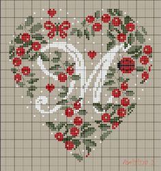 クロスステッチパターン 「M」inheart
