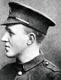 Private William Macfadzean VC 36th Ulster division. He was given his victoria cross posthumously when he threw himself on a box of grenades that had been dropped saving the lives of his comrades but dying himself on the first day of the battle of the Somme