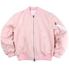 Porscha Blush Bomber Jacket ($39) ❤ liked on Polyvore featuring outerwear, jackets, pink quilted jacket, blouson jacket, cargo jacket, pink jacket and quilted jacket