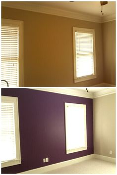purple accent wall