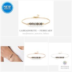 Labradorite Bracelet in Gold, Rose Gold or Sterling Silver - Personalized Jewelry Gift for Women Labradorite Jewelry, Gemstone Bracelets, Silver Bracelets, Matching Necklaces, Metal Beads, Personalized Jewelry, Natural Gemstones, Gifts For Women, Jewelry Gifts