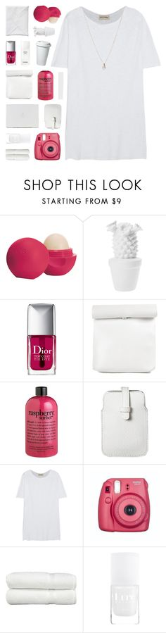 """""""CALYPSO"""" by bosspresident ❤ liked on Polyvore featuring Eos, Christian Dior, Chanel, philosophy, Mossimo, American Vintage, Fujifilm, Linum Home Textiles, ASOS and white"""