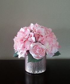 Artificial Flower Arrangement Faux Flowers by PinesNTwines on Etsy
