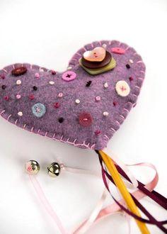 purple felt heart