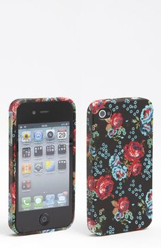 Design Lab Floral Print iPhone 4 & 4S Case | Nordstrom
