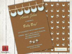 Front & Back Baby Shower Card Fully Editable Baby by LoveArtSyou Baby Shower Cards, Baby Shower Invitations, Shower Inspiration, Lets Celebrate, Having A Baby, Scrapbook Paper, Rsvp, Digital, Awesome