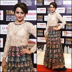 Trisha Krishnan (@Dudette583) In @VarunBahlCouture Gown, @HouseOfShikha Earrings & @BottegaVeneta Clutch at Day 2 - #VIVOSIIMA 2017 in Abu Dhabi. #SIIMA2017  Styled By @Neeraja.Kona  #OOTD #TrishaKrishnan #VarunBahl #Couture #HouseOfShikha #BottegaVeneta #InAbuDhabi #Tollywood #Bollywood #CelebrityStyle #Fashion #RedCarpet #Glam #Beauty #Love #InstaFashion #BollyFashionFiesta