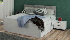 Seleção de camas de casal multifuncionais, ideais para otimizar o aproveitamento de pequenos espaços ou para quem tem muitos objetos para guardar.