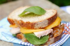 chicken and peach sandwich
