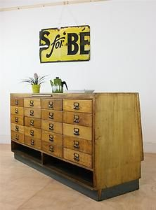 Vintage Oak Haberdashery Large Shop Counter Display with Chest of Drawers | eBay