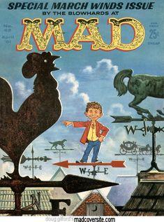 Mad Magazine, Magazine Covers, Weather Vanes, Tv Ads, Vintage Magazines, See Photo, Cover Art, Comic Books, Comics