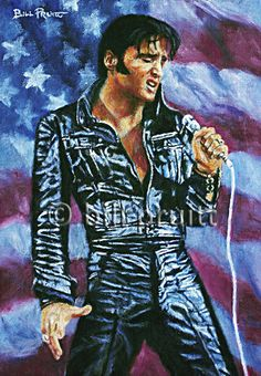 Elvis Presley The King comeback art print signed and dated Bill Pruitt James Dean, Famous Celebrities, Celebs, Burning Love, Elvis Presley Photos, Lisa Marie Presley, Rhythm And Blues, Graceland, American Singers