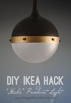 "DIY Ikea Hack ""Hicks"" pendant light | www.thegatheredhome.com"