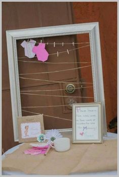 Picture frame guest book Baby Shower Activities for Guests - Baby Diy - Baby shower Shower Party, Baby Shower Parties, Baby Shower Themes, Cute Baby Shower Games, Best Baby Shower Favors, Baby Shower Gifts For Guests, Baby Shower Wishes, Baby Shower Advice, Baby Sprinkle