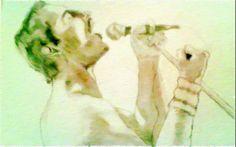 Freddie Mercury disegno matita/carboncino di Signori Gessica