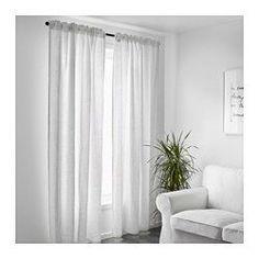 IKEA - AINA, カーテン1組, , 強い日差しをやわらげ、外からの視線を遮ってプライバシーを保ちます麻(リネン)製。ナチュラルな質感が特徴で、しっかりとしたコシがありますカーテンロッドまたはカーテントラックに取り付けてお使いくださいギャザリングテープ付き。RIKTIG/リクティーグカーテンフックを使えば、簡単にギャザーが寄せられます隠しタブにカーテンロッドを通したり、カーテンリングとフックを使ってつり下げられます