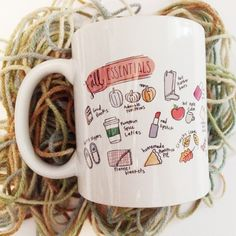 The Scribble Studios mugs are handlettered + handpressed on the shore of the Halifax river in Historic Ormond Beach, FL. Hand-illustrated