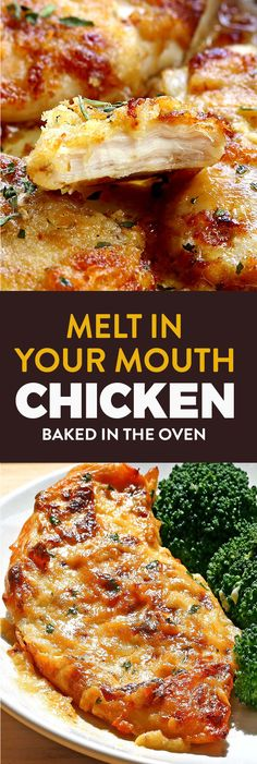 Full of flavor, moist, tender melt in your mouth chicken and best of all, simple to make! Melt in Your Mouth Chicken - Melt In Your Mouth Chicken - Cakescottage Yummy Chicken Recipes, Meat Recipes, Healthy Recipes, Simple Cooking Recipes, Quick And Easy Recipes, Chicken Breats Recipes, Good Recipes, Best Baked Chicken Recipe, Moist Baked Chicken