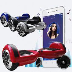 """6.5"""" UL Listed 2 Wheel Red Bluetooth Hoverboard SelfBalance Electric Scooter US"""