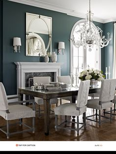 These Five Paint Colors Are Leading The Trends For Fall  Benjamin Unique Blue Green Dining Room Design Ideas