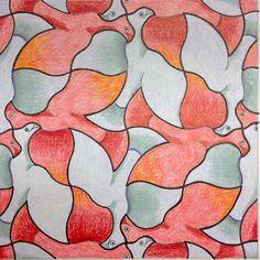 #Escher #Tessellation #Tiling #MC_Escher #Geometry #Symmetry My interpretation of Mc Escher symmetry nr 23