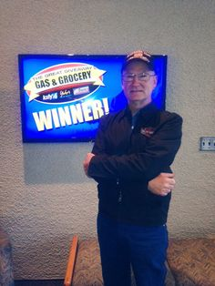 Congrats to Calvin Meredith who won $100 in The Great Gas & Grocery Giveaway from KXLY4, Divine's & Yokes!