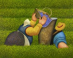 """Gracefull Harvest II""Acrylic on canvas, 48 x 60""  • 2012Available for Sale.  Inquire about this painting / Lowell Herrero"