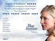 Blue Jasmin, Woody Allen's new movie. Academy Awards 2014, Andrew Dice Clay, New York Socialites, Bobby Cannavale, Louis Ck, 12 Years A Slave, American Hustle, Information Poster, Films