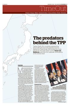 JT On Sunday TimeOut section. The predators behind the TPP. February 7, 2016