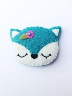 Fox nieve broche broche de Kawaii zorro por littlehappystitches