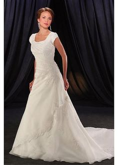 ORGANZA A-LINE JEWEL NECK WEDDING DRESS LACE BRIDESMAID PARTY COCKTAIL EVENING GOWN IVORY WHITE FORMAL BRIDAL PROM