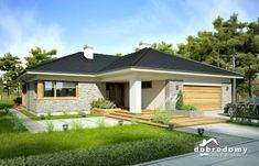 Nela IV - Dobre Domy Flak & Abramowicz Modern Bungalow House, Bungalow House Plans, Bedroom House Plans, House 2, Beautiful House Plans, Beautiful Homes, Contemporary House Plans, Modern Kitchen Design, Home Projects