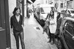 Fine Collection x Man Repeller #streetstyle #fashion #finecollection #manrepeller #backstage #bts #blackandwhite