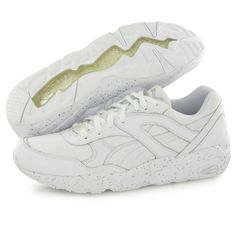 buy online d3bf5 b85a1 Baskets Puma R698 Speckle Blanc Homme - Taille   43 44 45 46