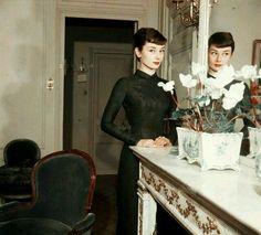 Audrey Hepburn photographed by Jack Garofalo, 1954