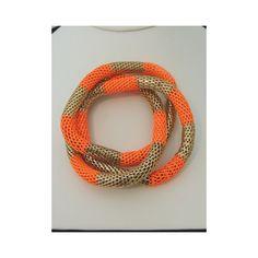 It's Electric Trio Stretch Bracelet in Orange $25.00 found on Polyvore
