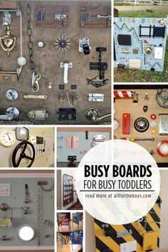 Busy boards for busy toddlers - fun handmade gift idea!