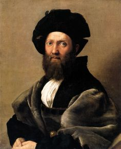 This is a portrait of Baldassare Castiglione. Castiglione was a famous author of this time period. He wrote The Book of the Courtier and the Fortunes of the Courtier.